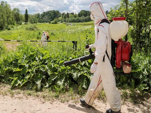 Гербицидная обработка поля в Кстово